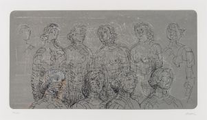 Henry Moore (1898-1986) Female Figures with Grey Background (Cramer 576)