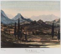HRH Prince of Wales (b.1948) Greek Landscape, Summer