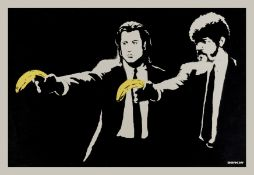 Banksy (b.1974) Pulp Fiction