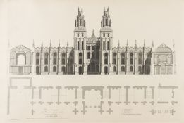 Architecture.- Hawksmoor (Nicholas) Architectural Designs for All Souls College, Oxford, with an …