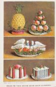 Food & Drink.- Marshall (Agnes B.) The Book of Ices, fourth edition, 4 chromolithographed plates, …