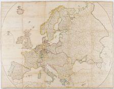 Europe.- De Bouge (J. B.) Carte d'Europe, suivant les derniers Traites, 1837.