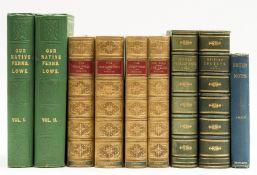 Lowe (Edward Joseph) Our Native Ferns, 2 vol., original cloth, 1867 & others (9)