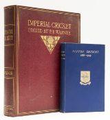 Cricket.- Warner (Pelham Francis) Imperial Cricket, limited edition, original morocco, 1912 & …