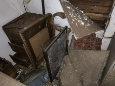 Contents of corner of shed