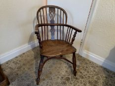 Small Windsor chair with crinoline stretcher