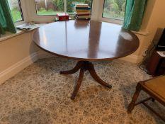 Circular pedestal dining table