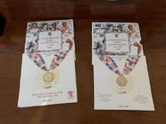 2x 1986 Commonwealth Games commemorative £2 coins