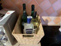 Basket of bottles