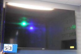 "Samsung 65"" Flat Screen TV w/Wall Mount"
