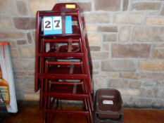 Lot: 4 Wooden Highchairs, 2 Booster Seats