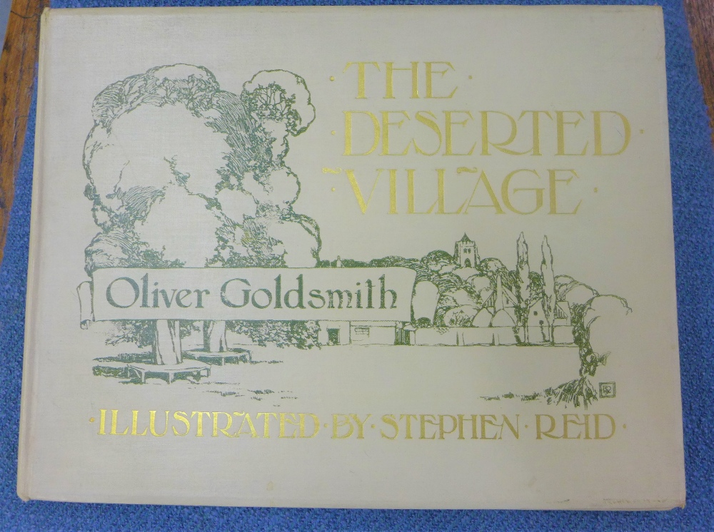 Lot 305a - The Deserted Village, Oliver Goldsmith, illustrated by Stephen Reid