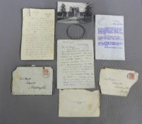 A collection of early 20th century letters to include one Glamis Castle notepaper, a Glamis Castle