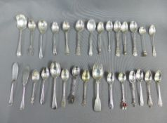 A quantity of silver and white metal spoons, etc (a lot)