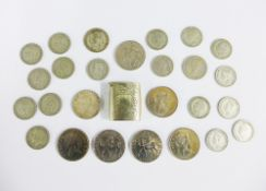 A quantity of pre Decimal UK coins to include half crowns and florin's, selection of QEII