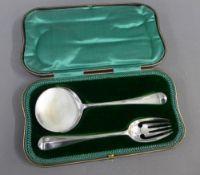 George V cased set of silver tomato servers, Josiah Williams & Co, London 1913.