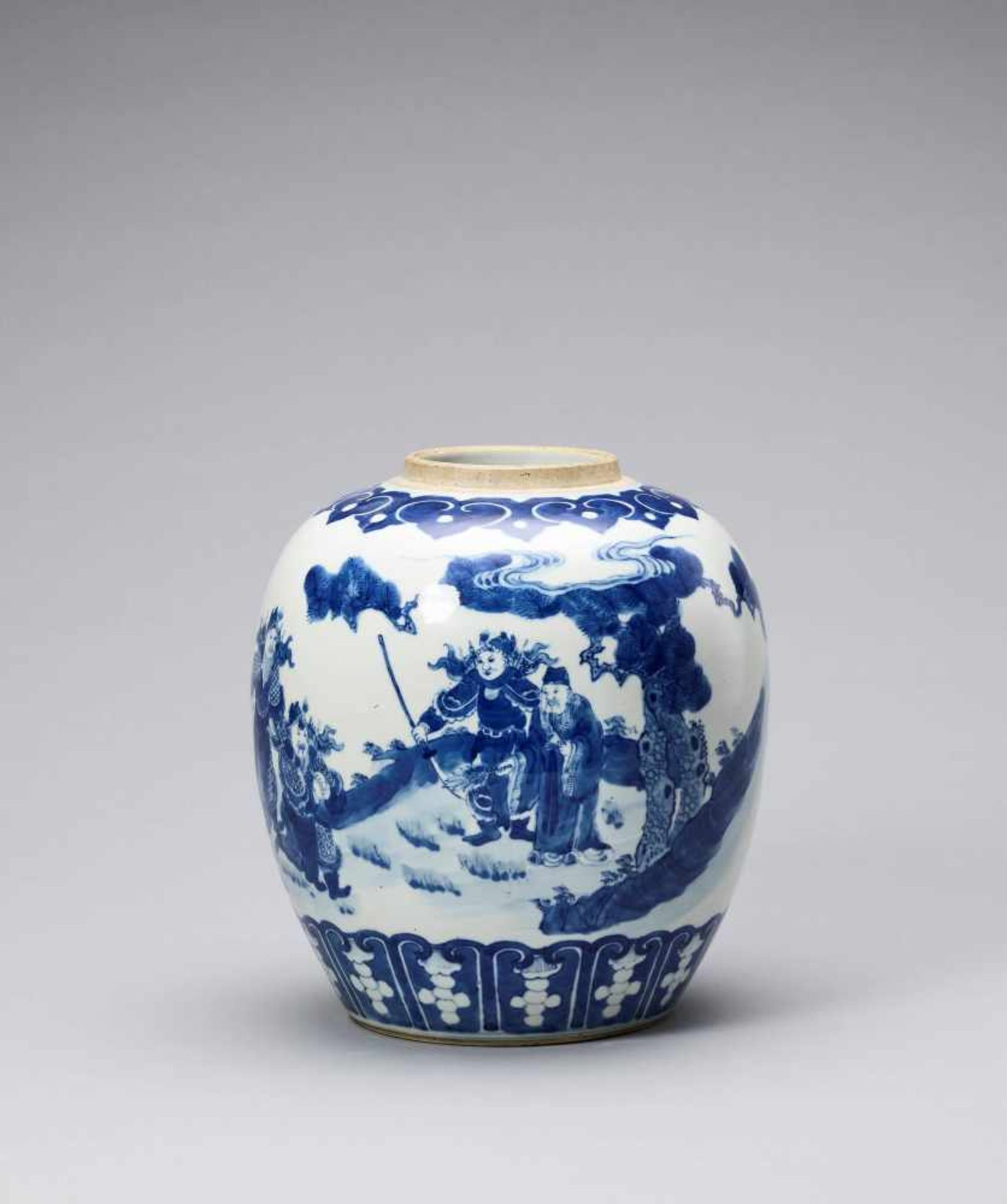 Los 439 - A BLUE AND WHITE GINGER JAR, QING