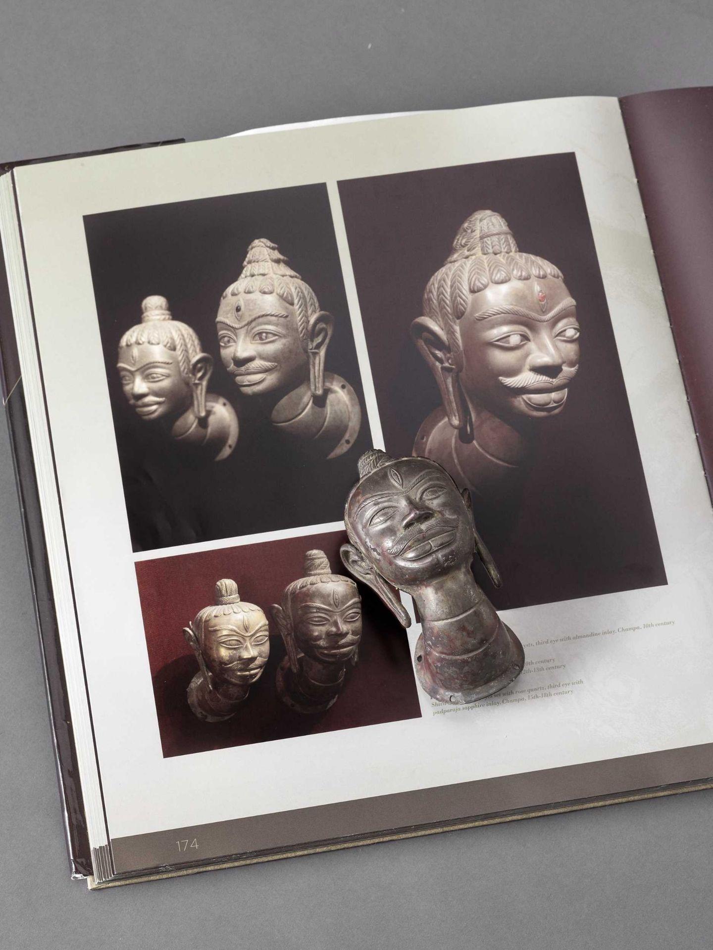 A RARE CHAM SILVER HEAD OF SHIVA - Bild 2 aus 6