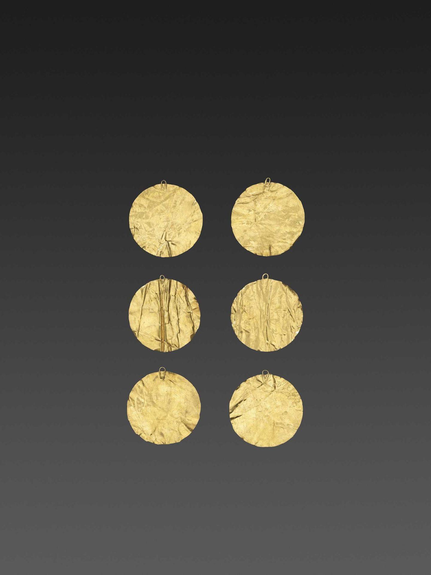 SIX BACTRIAN GOLD DISKS - Bild 3 aus 4