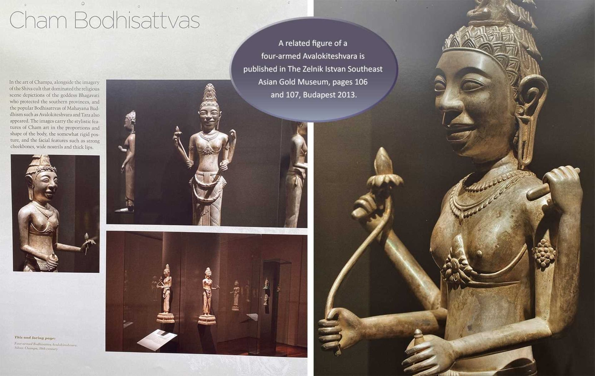 A RARE AND IMPORTANT SILVER ALLOY FIGURE OF AVALOKITESVARA - Bild 4 aus 11