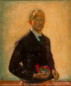 Siegfried von Leth (1883-1914), Self-Portrait, Oil on canvas, monogrammed and dated 1911,94 x 79