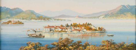 Unknown artist, Isola Bella (Lago Maggiore), watercolor on paper, probably 19th c., 12,5 x32