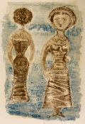 Massimo CAMPIGLI (1895-1971), Serata d'ottobre, Very large lithography, signed with penciland