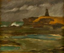 Kjell LÖWENADLER (1905-1993), Landscape with lighthouse, Oil on canvas, signed and dated1934, 54 x