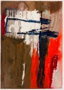 Mimy ROSSI, Compositions, 2 mixed media-works on paper, signed, 41 x 29,5 cm and 33 x 23,5cmMimy