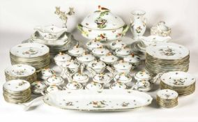 HEREND dinner service for 12 persons, motif Rothschild, porcelain, hand painted, 2nd half20th