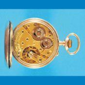 Silver pocketwatch in selling-case Burbacher HütteSilber-Taschenuhr im Verkaufs-Etui, Burba