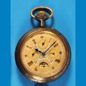 Big metal pocket watch with astronomic indicationsGroße Metalltaschenuhr mit astronomischen