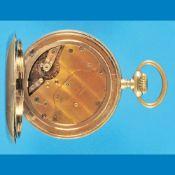 Big nickel pocket watch with 8-days-movement, Gorham & Co.
