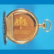 Silver motive pocket watch, JuveniaSilberne Motivtaschenuhr, Juvenia, auf der Werkschale Bl