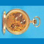 Silver pocket watch in selling-case with guarantee certificate, Union HorlogereSilberne Tas