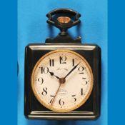 """Big square metal pocket watch with alarm """"Revail À Vertisseur""""Große viereckige Metalltasche"""