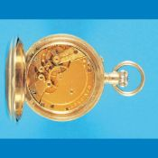 Metal pocket watch, LonginesMetalltaschenuhr, Longines, mit Bergwerksymbol verziertes Gehäu