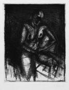Böhme, Lothar Weiblicher Akt Radierung, 214 x 173, sign. In sehr gutem Zustand.