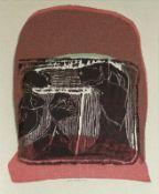 Altenbourg, Gerhard [i.e. Gerhard Ströch] Über den Kopf hinweg Vierfarbiger Handdruck von einer