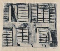 Camaro, Alexander (Breslau 1901 - 1992 Berlin) Maison imaginaire Kaltnadel, 1946, 152 x 192, mon.,