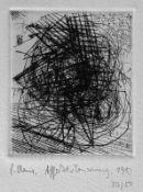 Claus, Carlfriedrich AffektsteuerungRadierung, 1983, 90 x 76, sign., dat., num.(30/50), betitelt,
