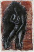 Böhme, Lothar Sitzender Akt (in Rot) Zeichnung, Feder/Tusche, weiß gehöht, Aquarell auf Papier, 595
