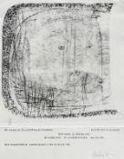 Altenbourg, Gerhard [i.e. Gerhard Ströch] Fast ein Blick, dorther Lithographie auf Karton, 1964,