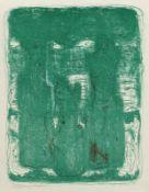 """Balden, Theo (Blumenau/Brasilien 1904 - 1995 Berlin) Variationen zu """"Buhnen"""" Zinkographie in Grün,"""