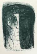 Balden, Theo KopfstudieZinkographie in Dunkelgrün, 1973, 395 x 275, sign., dat., num.(4/85).