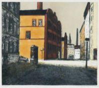 Bechtle, Edmund (geb. 1947 in Gransee, lebt in Berlin) Saarbrücker Straße Farbzinkographie, 1989,