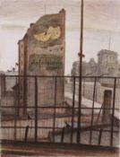 Butzmann, Manfred (Am Reichstag) *Farboffsetlithographie, 1990, 705 x 535, sign., dat., num.(20/