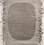 DENNHARDT, KLAUS: ohne Titel (ovale Form und Spachtelzüge), 1981