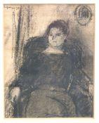 """BEHRINGER, OSKAR: """"Sitzende Frau"""", 1930"""