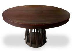 Source of furniture, design A. Mangiarotti, series S 11. Wooden table with coated circular in shape